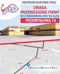 Przeniesienie siedziby Centrum Hurtowe Pasz