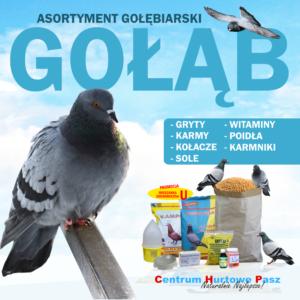 Asortyment Gołębiarski – Sklep Centrum Hurtowe Pasz